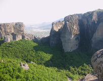 Meteora - immagine di riserva Fotografia Stock Libera da Diritti