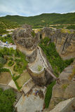 The Meteora - important rocky monasteries complex in Greece Stock Images