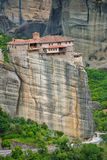 The Meteora - important rocky monasteries complex in Greece Royalty Free Stock Images