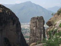Meteora klippor i Grekland, bästa sikt Royaltyfri Foto