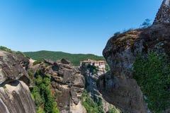Meteora Kloster Stockbilder