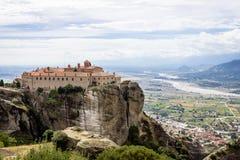 Meteora kloster, Grekland Arkivbilder