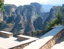 Meteora kloster, Grekland - materielbild Arkivfoton
