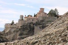 Meteora-Kloster in Griechenland, Wunder Stockfotografie