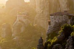 Meteora-Klostermarkstein Griechenland Stockfotografie