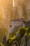 Meteora-Klostermarkstein Griechenland Lizenzfreies Stockbild