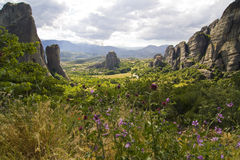 Meteora landscape Royalty Free Stock Photo
