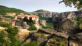Meteora landscape Greece Royalty Free Stock Images
