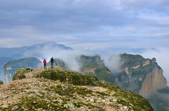Meteora landscape, Greece Royalty Free Stock Images