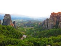 Meteora landscape Stock Photos
