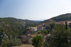 Meteora. Le monastère de la trinité sainte Photographie stock libre de droits