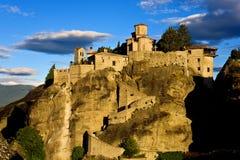 Meteora, monastère de Varlaam Photographie stock libre de droits