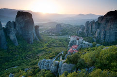 Meteora Monasteries Royalty Free Stock Photos