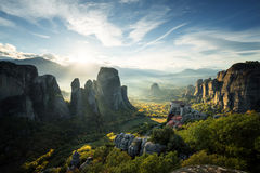 Meteora monasteries in Greece Stock Images