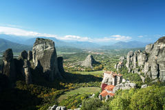 Meteora monasteries in Greece Royalty Free Stock Images