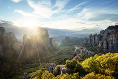 Meteora monasteries in Greece Stock Photos