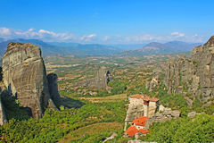 Meteora Monasteries in Greece Royalty Free Stock Photos