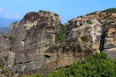 Meteora Monasteries in Greece Stock Images