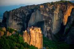 Meteora Monasteries in Greece Royalty Free Stock Image