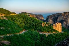 Meteora Monasteries in Greece Stock Image
