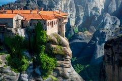 Meteora Monasteries in Greece Stock Photos