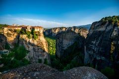 Meteora Monasteries in Greece Royalty Free Stock Photos
