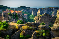 Meteora Monasteries in Greece Royalty Free Stock Photo