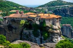 Meteora Monasteries in Greece Royalty Free Stock Image