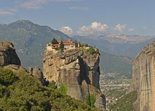 The Meteora monasteries, Greece Kalambaka. UNESCO World Heritage site. royalty free stock photos