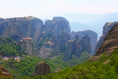 Photo made in Greece. Meteora Monasteries Greece. Meteora Monasteries Greece. Mountain landscape royalty free stock image