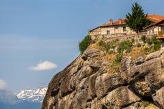 Meteora Monasteries in Greece Royalty Free Stock Images