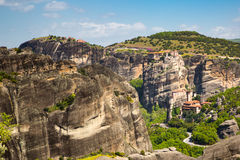 Meteora monasteries on the high cliffs, Greece Stock Photography
