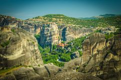 Meteora Monasteries Holy Monastery of Rousanou, Kalabaka, Greece royalty free stock images