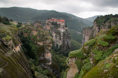 Meteora monasteries, the Holy Monastery of Varlaam, Greece Royalty Free Stock Image