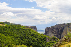 Meteora monasteries, incredible sandstone rock formations. Stock Photography