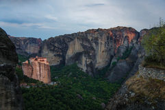 Meteora Monasteries 3. Mountain view Meteors, on top of which are the monasteries Stock Image