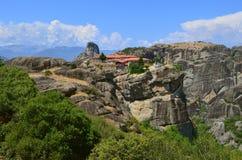 Meteora Monasteries on the rocks. Stock Photography