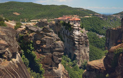 Meteora Monasteries on the rocks. Greece Stock Images
