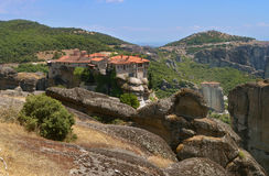 Meteora Monasteries on the rocks. Greece Royalty Free Stock Photography