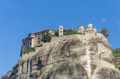 Meteora Monasteries in Trikala region in Greece Royalty Free Stock Image