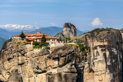Meteora Monasteries in Trikala region in summer, Greece. Stock Image