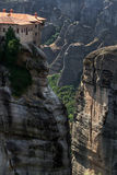 Meteora Monasteries in Trikala region in summer, Greece. Royalty Free Stock Photos