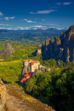 Meteora Monastery. Meteora Monasteries during summer, in Trikala region, Greece Stock Photography