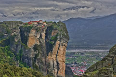 Meteora monastery. Monastery at Meteora in Greece stock images