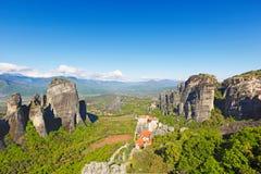 Meteora Monastery complex, Greece royalty free stock photos