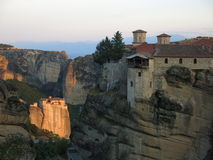 Meteora monastery complex Royalty Free Stock Images