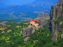 Meteora monastery complex Royalty Free Stock Photo