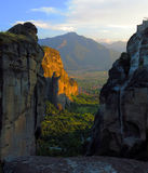 Meteora monastery complex Royalty Free Stock Photo