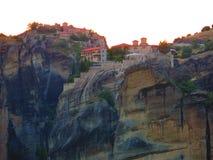 Meteora monastery complex Stock Photography