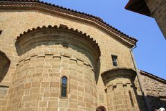 Meteora Monastery in Greece Royalty Free Stock Images